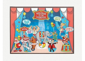 Circus Activities ~Color your own Carnival Paddleball~
