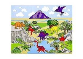 """Activités Dinosaure ~Création d'un tableau """"Le monde de Jurassic""""~"""
