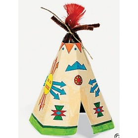Far West Activities ~Create your own teepee - Pack of 4~