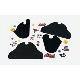 Activités Pirate - Set de 4 chapeaux de Capitaine de Pirate en mousse à décorer