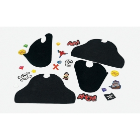 Pirate Activities ~Make your own Foam Pirate Hats - Pack of 4~
