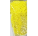 Rainbow Loom ~Recharge 600 élastiques JAUNE JELLY avec 24 fermoirs~