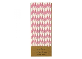 Straws ~Pack of 30 pink straws~