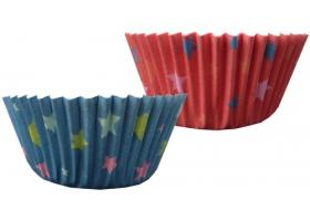 Cupcakes ~Set de 50 mini caissettes à cupcakes avec étoiles~