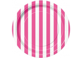 Lollipop pink ~Pack of 8 plates~