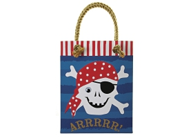 Pirate ~Set de 8 sacs cadeau Tête de mort~