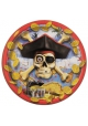 Pirate ~Pack of 12 plates Crossbones~