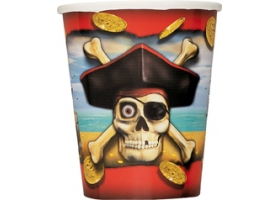 Pirate ~Pack of 12 cups Crossbones~