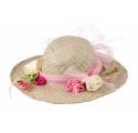 Chapeau de Paille avec fleurs
