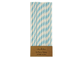Straws ~Pack of 30 blue straws~