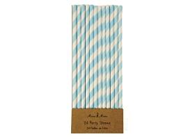Straws ~Pack of 30 blue straws~