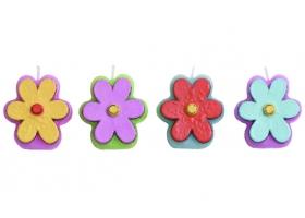 Bougies ~Set de 4 bougies fleurs~
