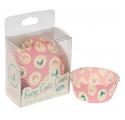 Cupcakes ~Set de 60 caissettes à cupcakes rose vintage~