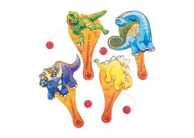 Dinosaure ~Tapp Ball en bois avec balle en caoutchouc~