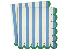 Blue Stripes~Set de 20 serviettes Toot Sweet Bleu~