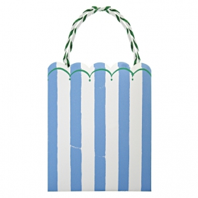 Blue Stripes ~Pack of 8 party bags Toot Sweet Blue~