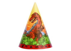 Dinosaur ~Party hats - pack of 8~