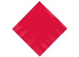 Serviettes en papier rouge ~Set de 20 serviettes rouges~