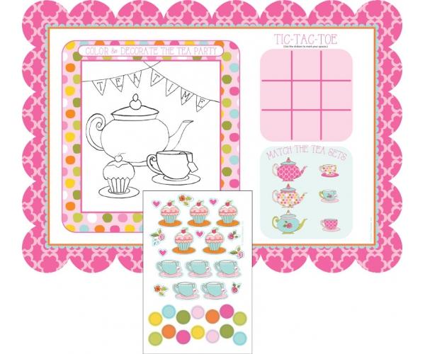 Activités Filles ~Création de 8 sets de table à personnaliser avec des stickers~