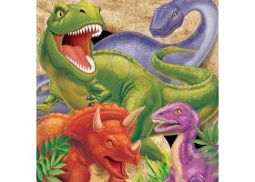 Dinosaure - Set de 16 serviettes