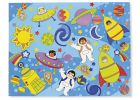 "Space Activities ~Creation of a board ""My Solar System"" with Stickers~"