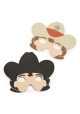 Far West ~Set de 4 masques de Cow Boy et de Shérif~