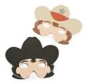 Far West ~Pack of 4 Foam Western Masks~