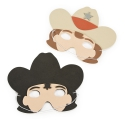Activités Far West - Set de 4 masques de Cow Boy et de Shérif