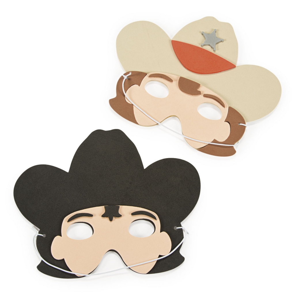 Idee Deco Chambre Garcon Super Heros far west ~pack of 4 foam western masks~ - rêves & merveilles