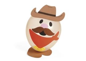 Activités Far West ~ Création de 4 Cowboys avec ballon, chapeau et moustache~
