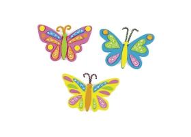 Activités Conte de fée ~Set de 4 magnets Papillons en mousse à fabriquer~