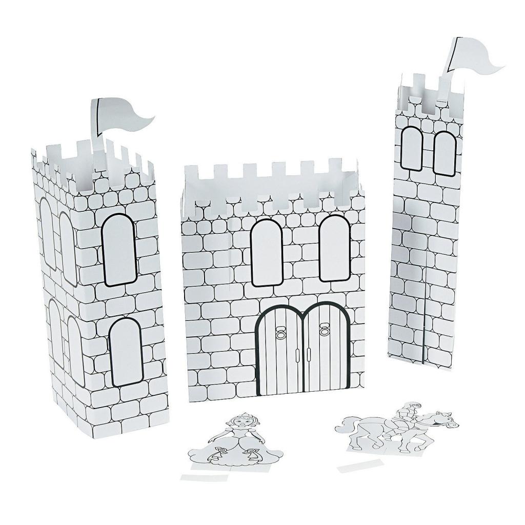 Coloriage Dun Chateau De Princesse.Coloriage D Un Chateau De Princesse Ou De Chevalier