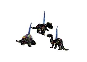 Activités Dinosaure ~Création de 3 Dinosaures colorés - Coloriage magique~