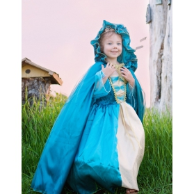 Princess ~Cape - turquoise and gold~