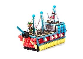 Gâteau de Bonbons ~Le Bateau de Pirates - 200 bonbons~