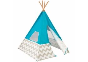 Jouets ~Tente Tipi indien bleu à chevrons gris et blanc - Kidkraft~