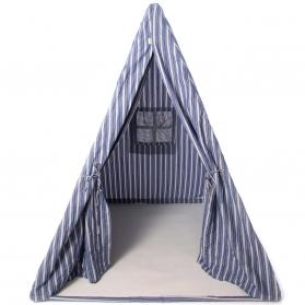 Toys ~Teepee Navy Multi Stripe Wigwam - Wingreen~