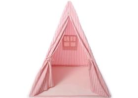 Jouets ~Tente Tipi pour enfant Rayé rose et blanc - Wingreen~