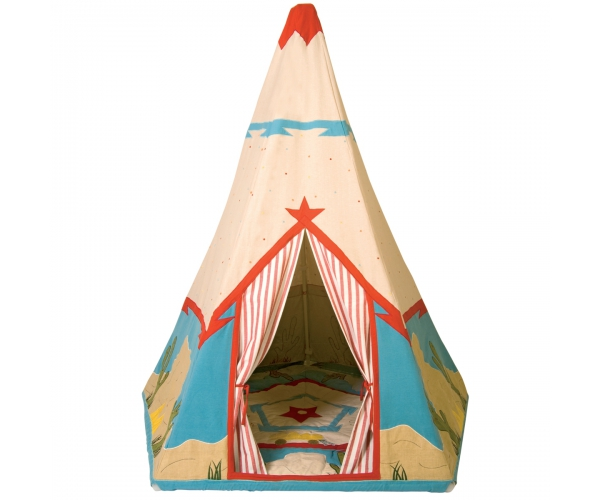 Toys ~Teepee Natural Multi Stripe Wigwam - Wingreen~
