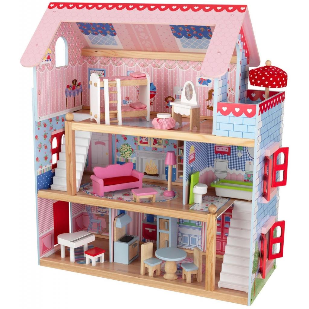 Maison de poup e en bois chelsea cottage de kidkraft - Casitas de juguete para ninas ...