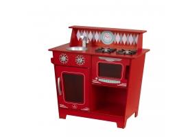 Cuisine pour enfant en bois - Kitchenette Rouge