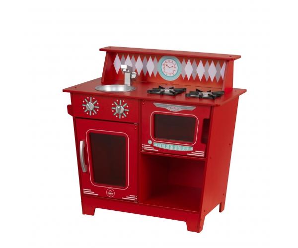 Cuisine Pour Enfant En Bois Classic Kitchenette Rouge De Kidkraft