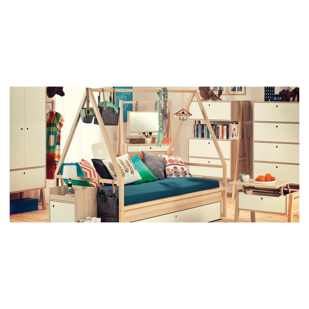 Lit Bebe Cabane Evolutif trolley for tipi bed spot 90 x 200 cmvox