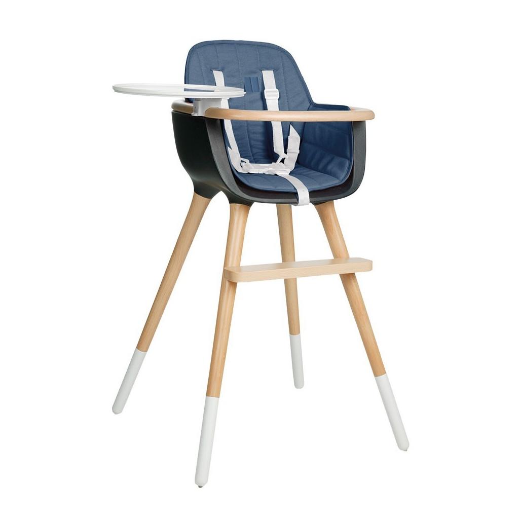 Coussin bleu pour Chaise haute OVO One blanche par MICUNA