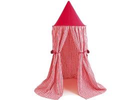 Tente suspendue - Ciel de Lit en vichy rouge