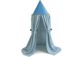 Tente suspendue - Ciel de Lit en vichy bleu