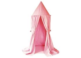 Tente suspendue - Ciel de Lit rayé rose et blanc