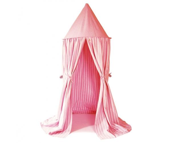 tente ciel de lit ray rose et blanc wingreen. Black Bedroom Furniture Sets. Home Design Ideas
