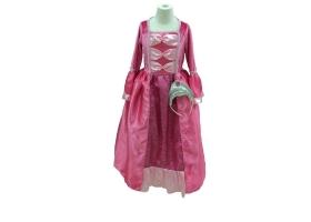 Robe de Princesse fuchsia avec son diadème