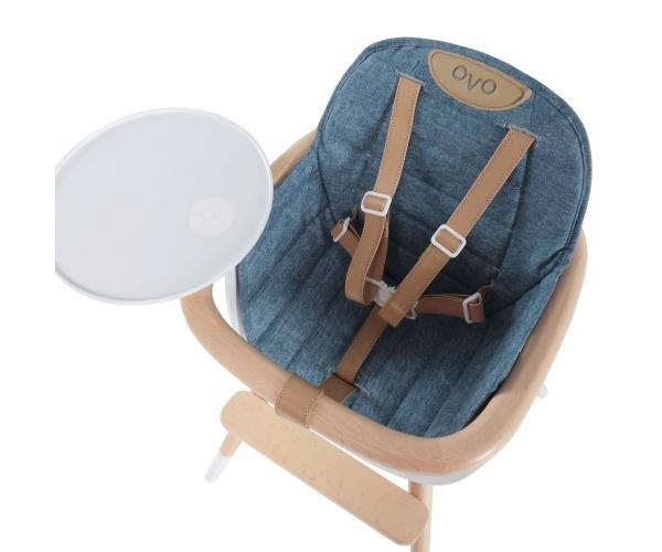 Coussin City pour chaise haute OVO - Jean